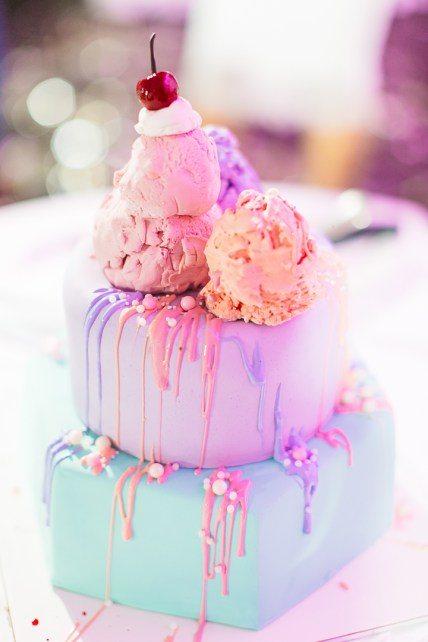 Светло-розовый, мятный ice cream-торт от Студии Марины Мурашовой Автор фото: Ольга Бардина; свадьба Богдана и Полины