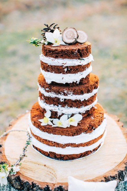 Торт с открытым бисквитом от Sweet Moment Cakes Автор фото: Олег Зайцев; стилизованная съемка