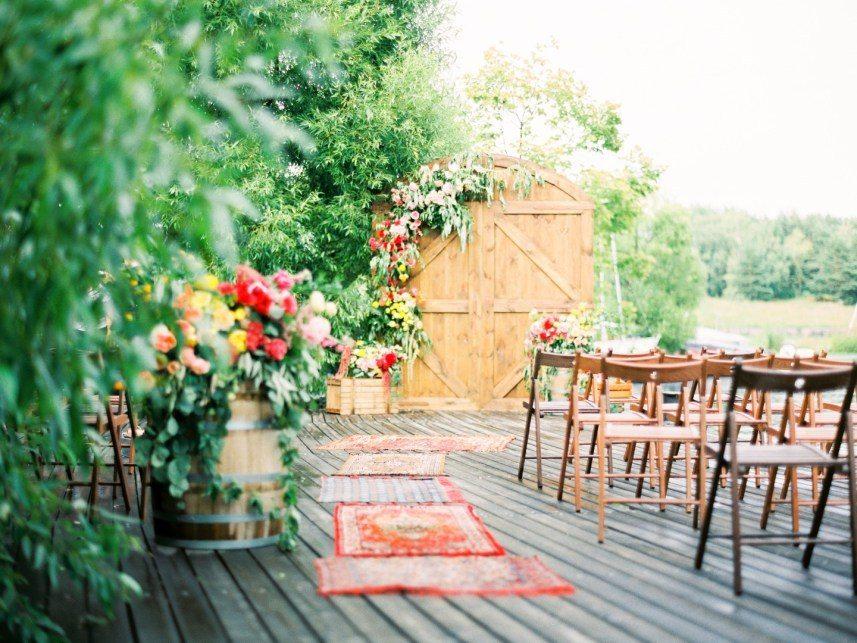 20 альтернатив свадебным аркам