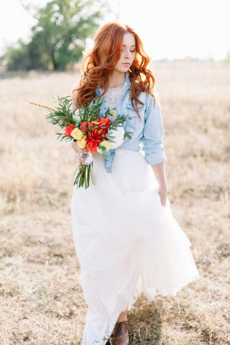 Рыжие букеты для невесты фото 2016