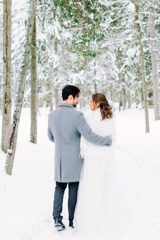 Зимний уют: свадебная love-story Джулиана и Елены