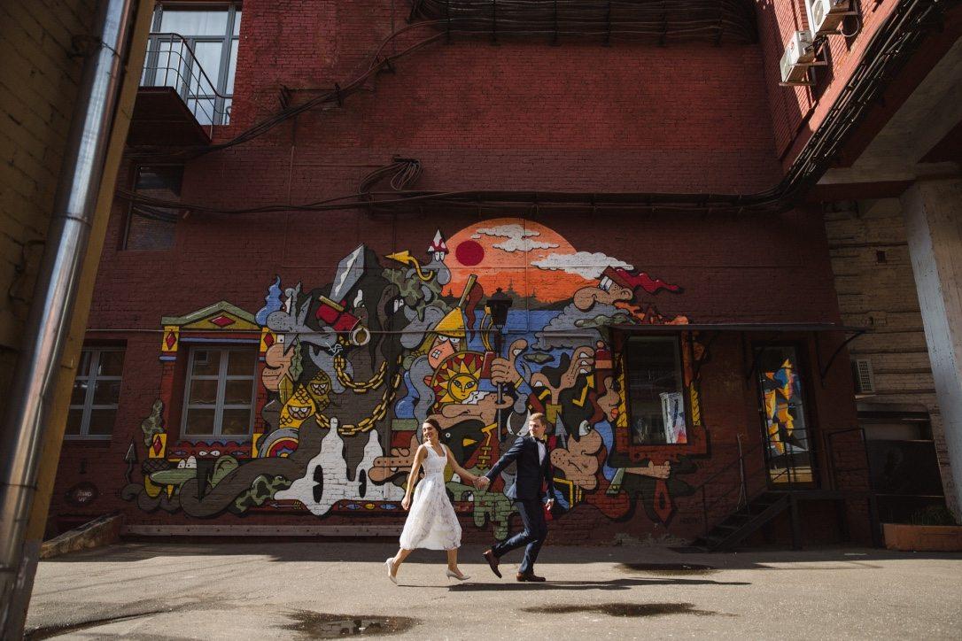 В стилистике Уэса Андерсона: свадьба Ангелины и Максима