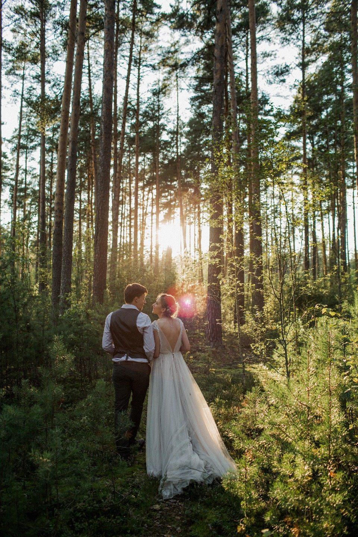 Лесное зазеркалье: свадьба Кати и Паши