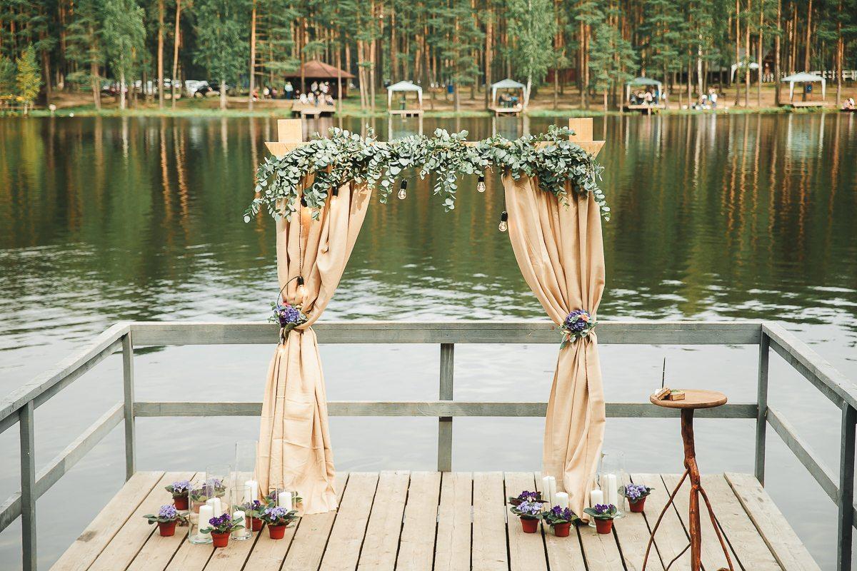 Фиалковая нежность: свадьба Алексея и Анастасии