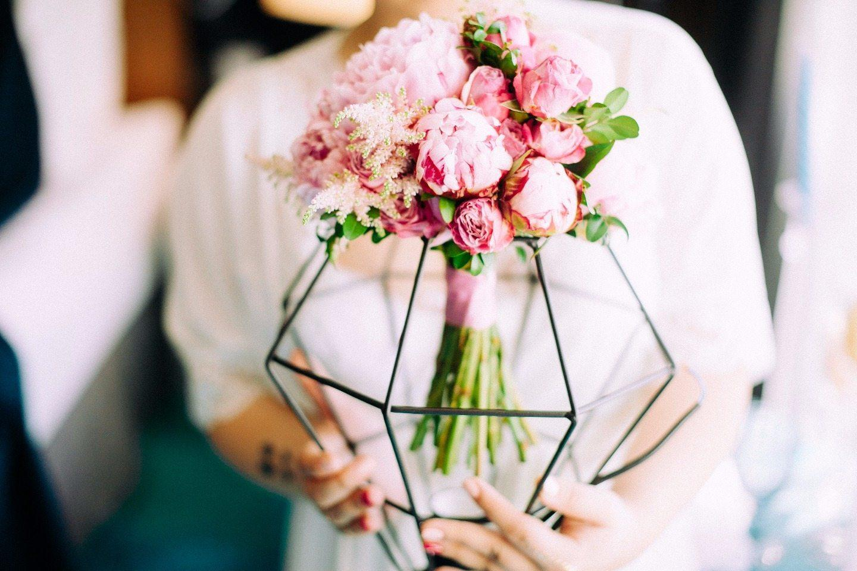 Геометрия любви: свадьба в «геометрической» стилистике