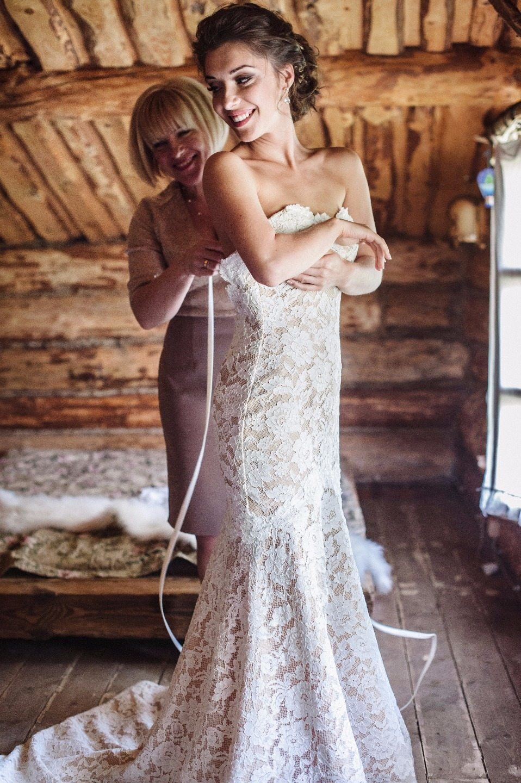 Классическая свадьба с элементами стиля рустик