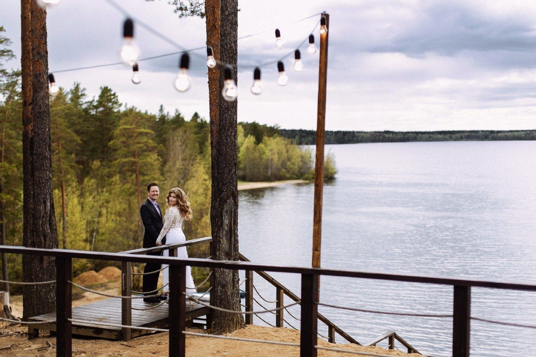 Уютная свадьба под дождем