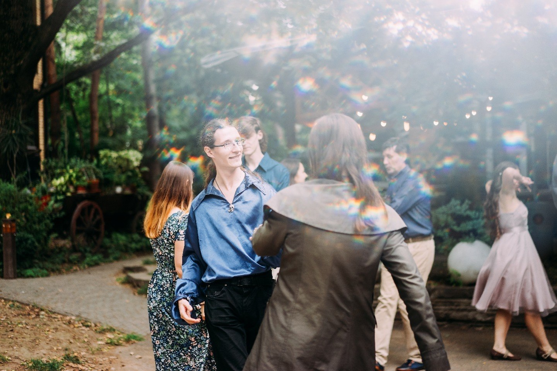 Once upon a midnight: годовщина свадьбы в звездной тематике