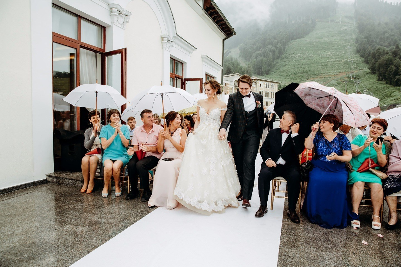 Горы, воздух и любовь: свадьба в Сочи
