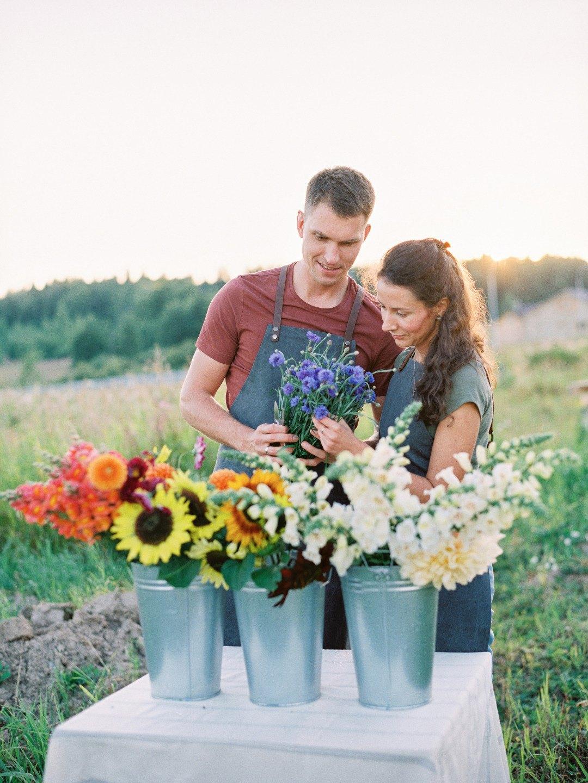 Цветочная ферма: стилизованная фотосессия