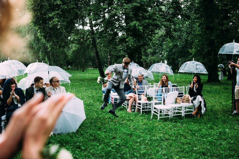Летний дождь: камерная свадьба с выездной церемонией