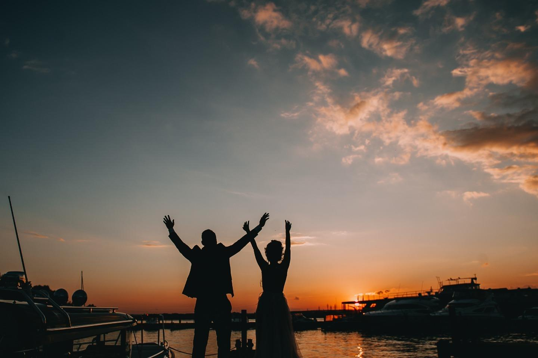 Морской бриз: свадьба в яхт-клубе