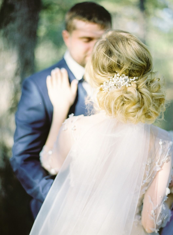 Винтаж и романтика: нежная свадьба в голубых тонах