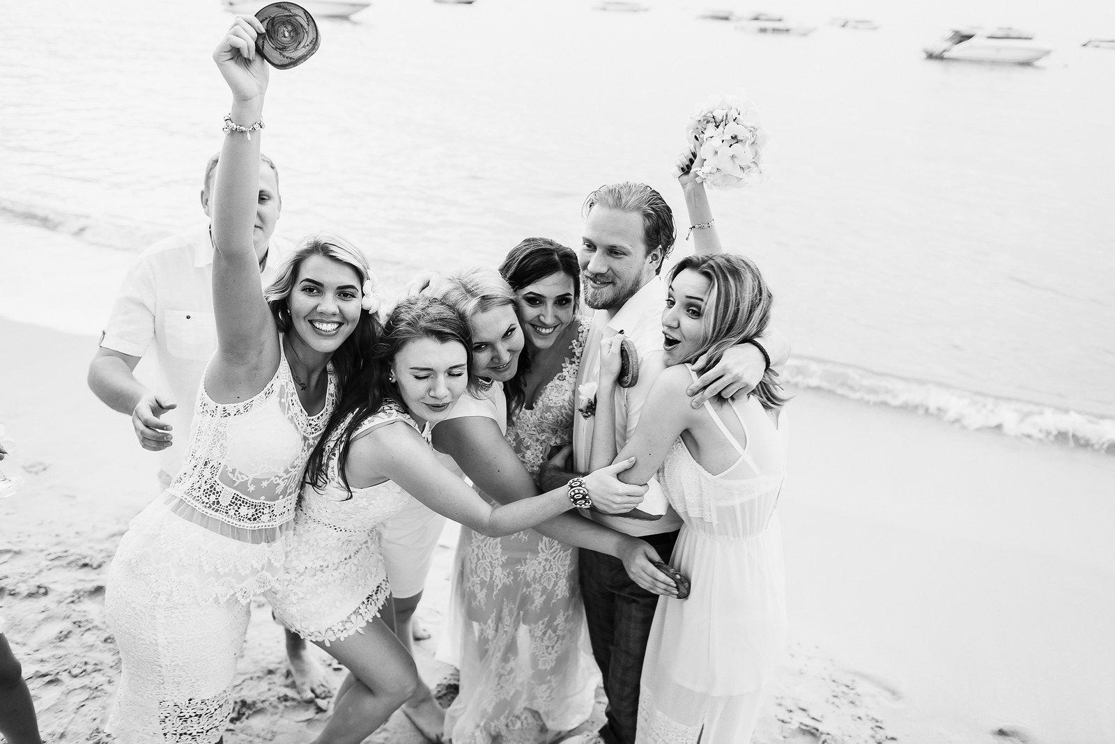 Пляжная вечеринка: свадьба на о. Самуи