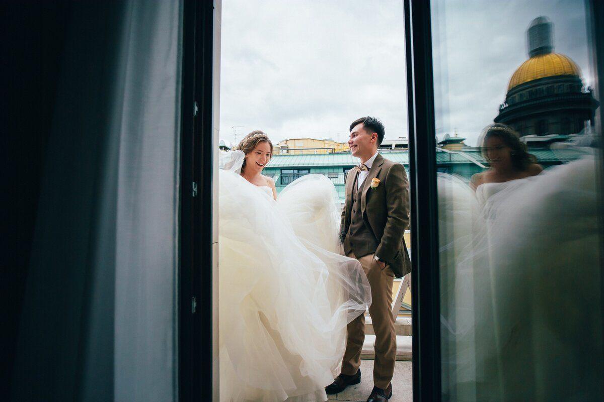Легкость и лаконичность: романтичная свадьба на Финском заливе