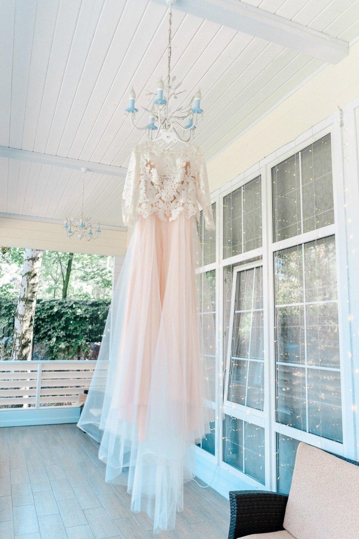 Воздушная легкость: свадьба в голубых и розовых тонах