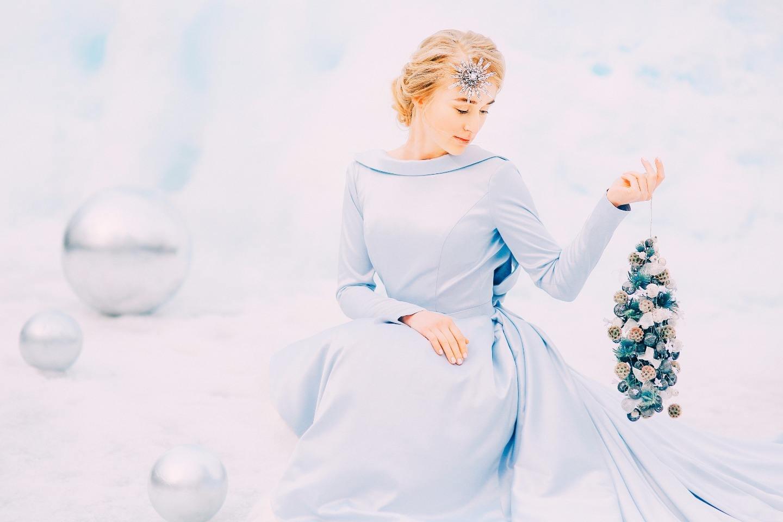 Space bride: стилизованная зимняя фотосессия