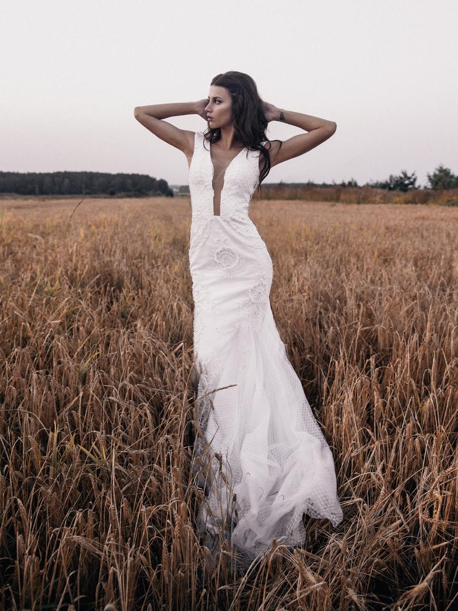 Русское поле: свадебная love-story на природе