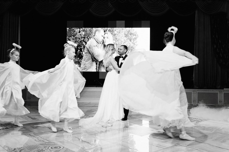 Аромат нашей любви: черно-белая свадьба