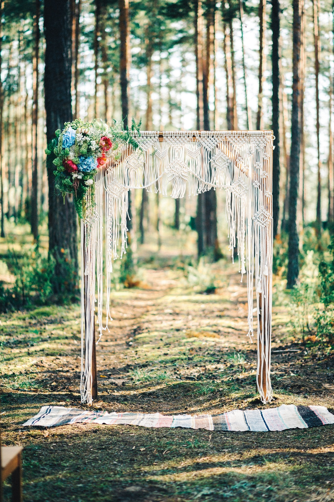 Forest Fairy Tale: бохо-свадьба в лесу