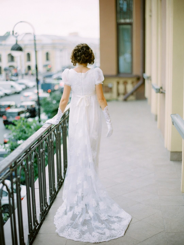 В стиле Джейн Остин: винтажная свадьба в Петербурге