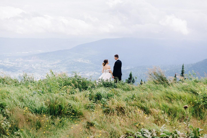 Романтичный эко: свадьба в Шерегеше