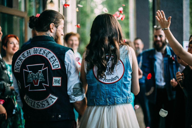 В стиле Harley Davidson: свадьба байкеров