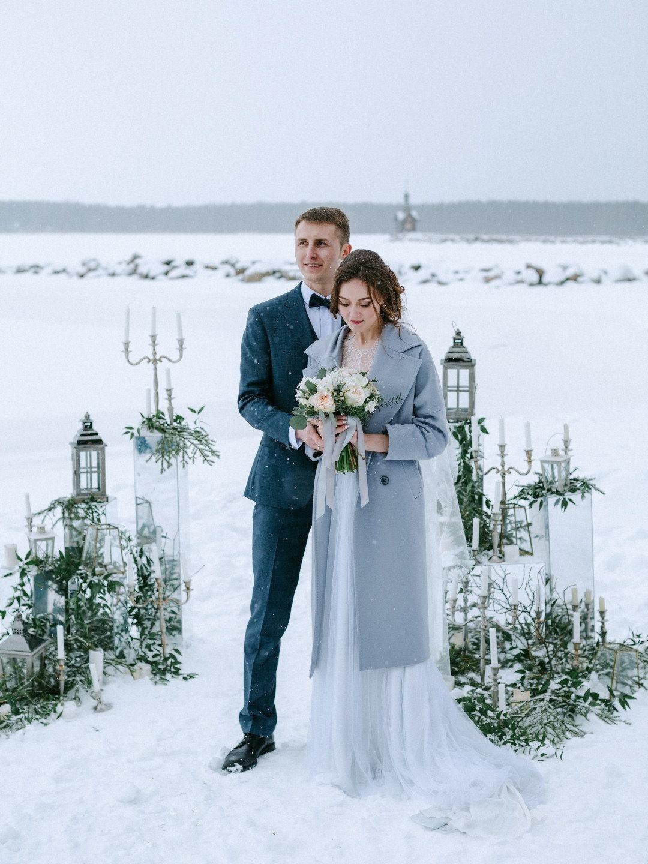 Снежная нежность: уютная зимняя свадьба