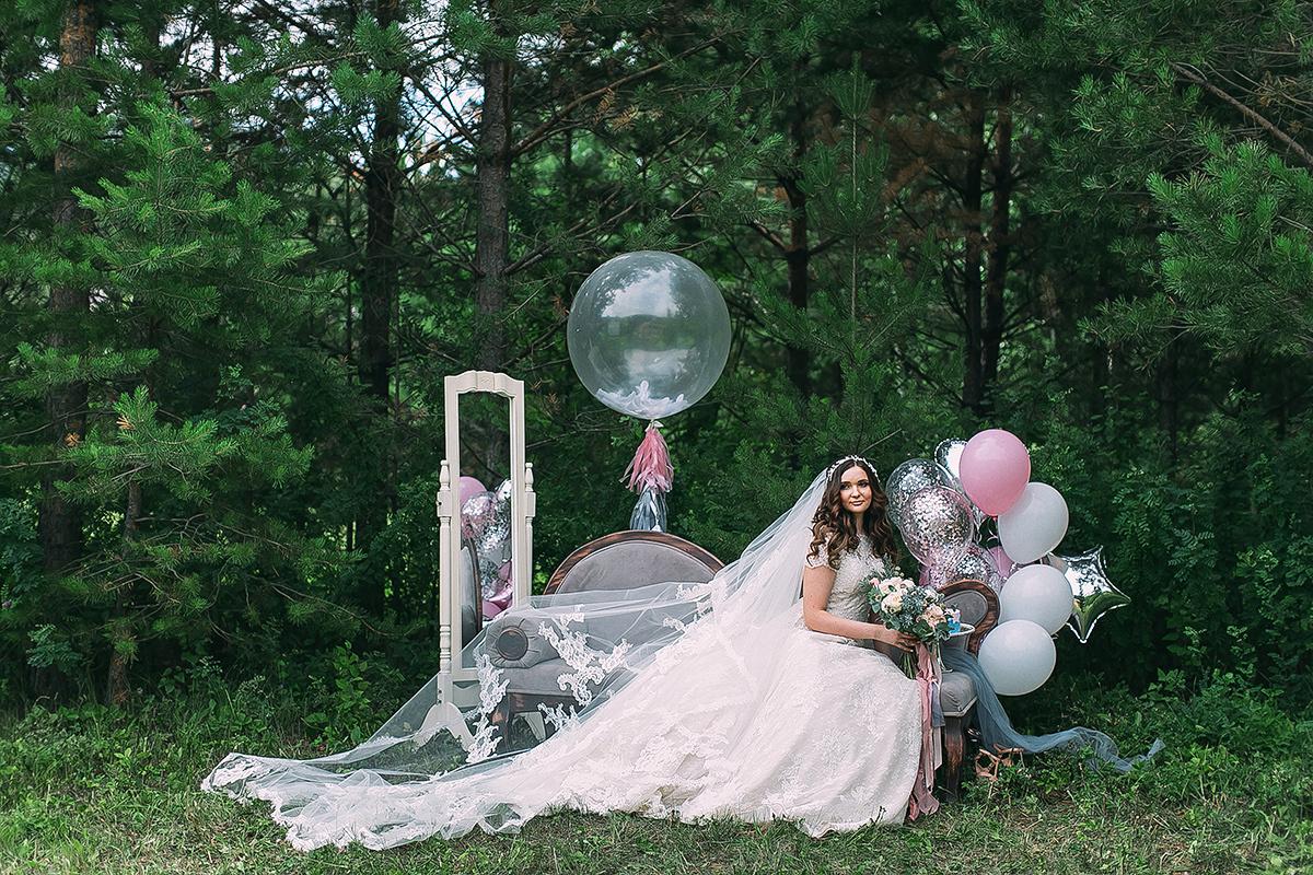 Пыльно-голубая акварель: нежная летняя свадьба