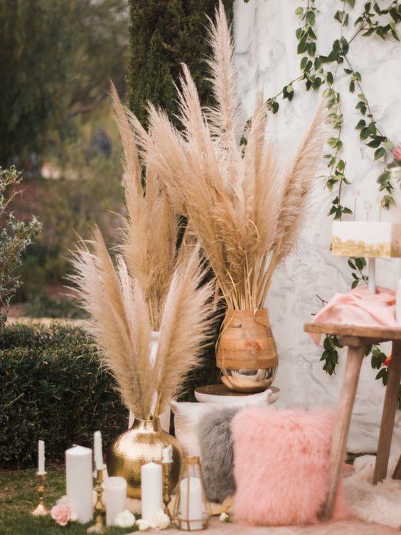 Тренд на все времена года: пампасная трава. 35 идей декора