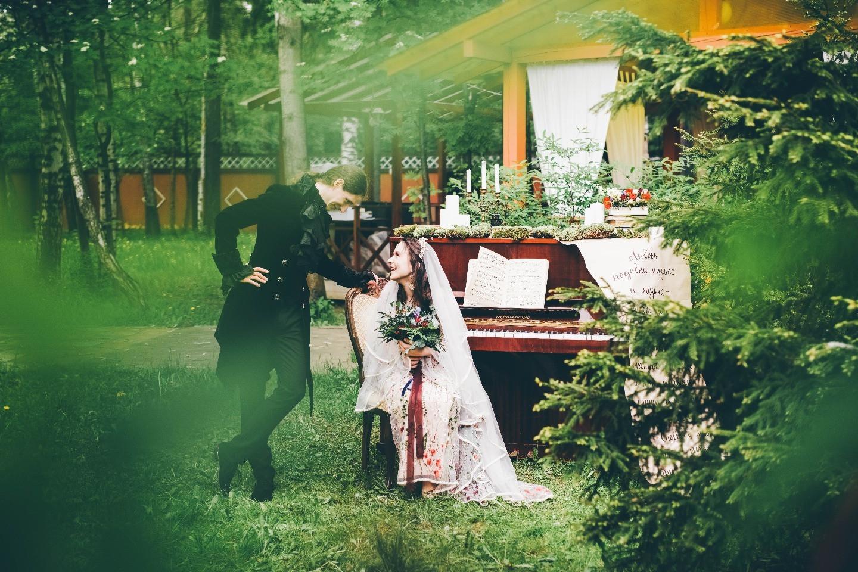 Сказочно-музыкальный бохо: свадьба двух меломанов и театралов