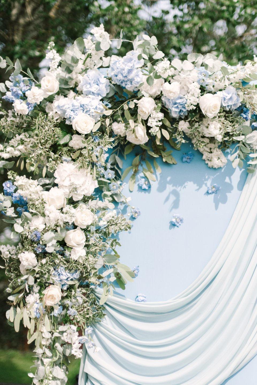 Брызги шампанского: свадьба в небесно-голубом цвете