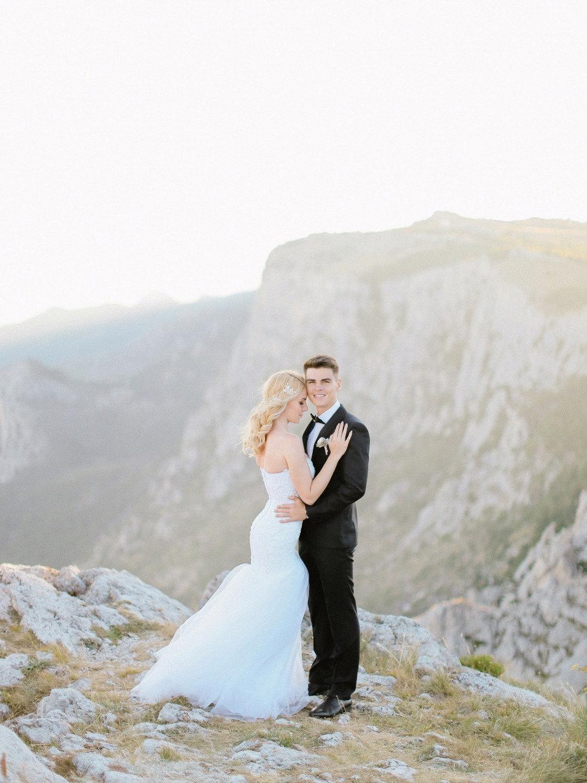 Ai-Petri Peak: свадьба в лучах заката