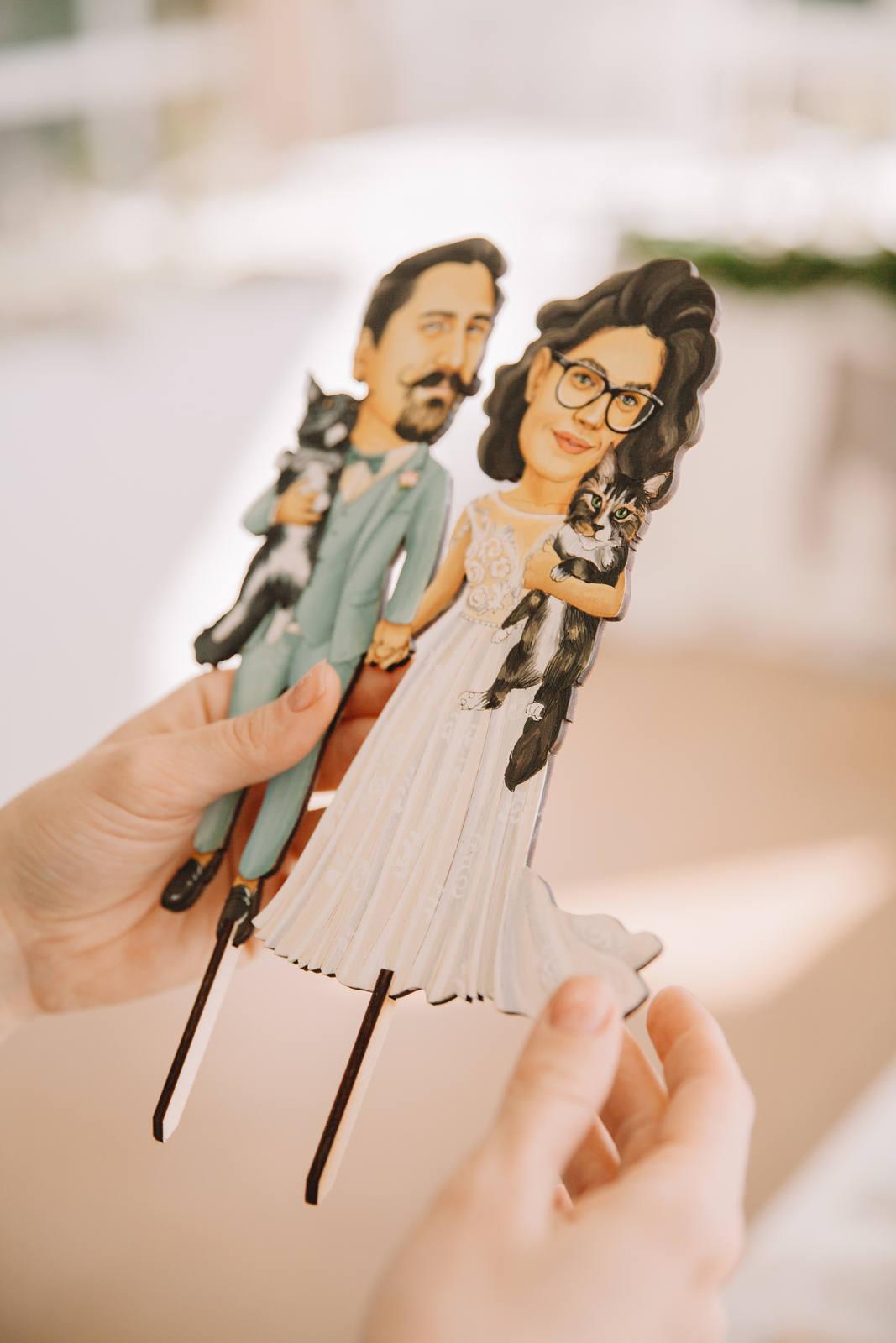 Классные топперы на свадебные торты от Movester toys