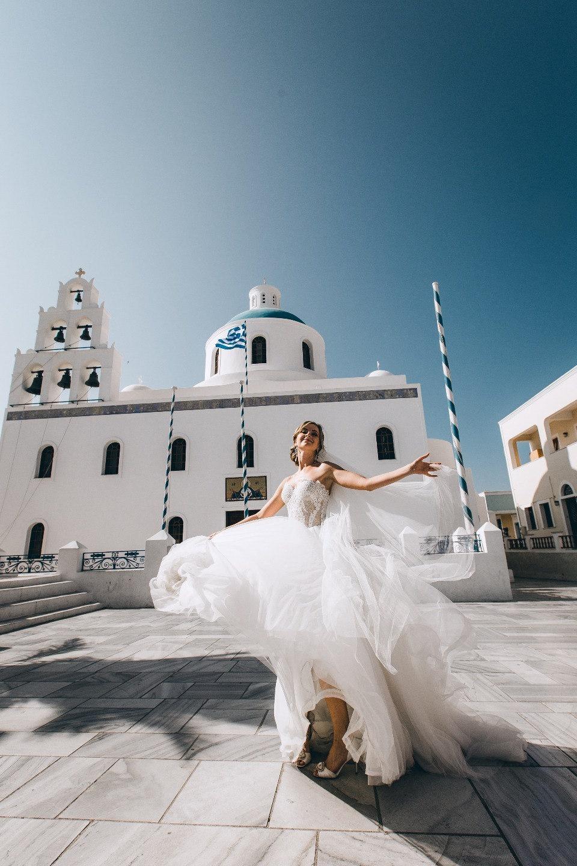 Романтика нашей любви: свадьба на острове Санторини