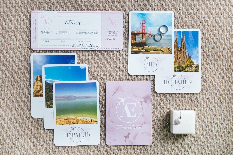 Романтика и путешествия: свадьба в розово-голубой палитре