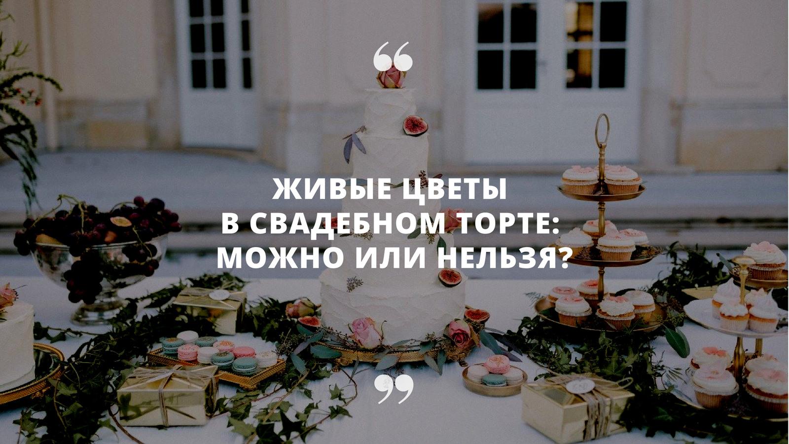 «Можно ли использовать живые цветы в декоре торта?»