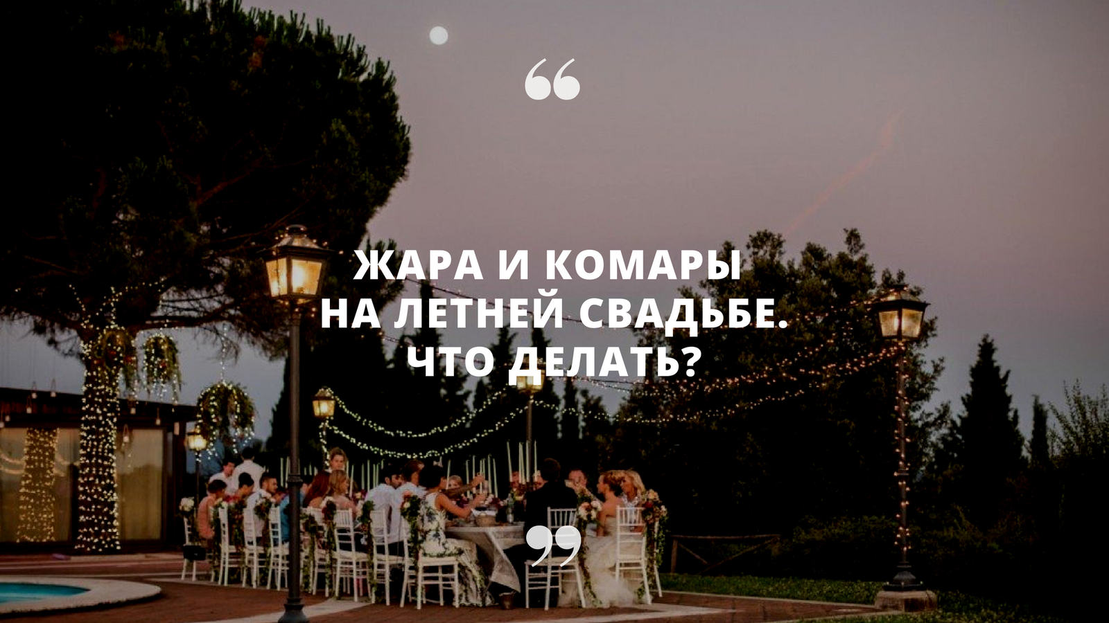 «Две проблемы летней свадьбы — жара и комары. Что делать?»