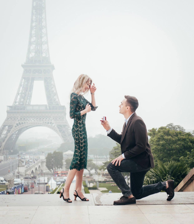 Love-story в Париже: предложение руки и сердца