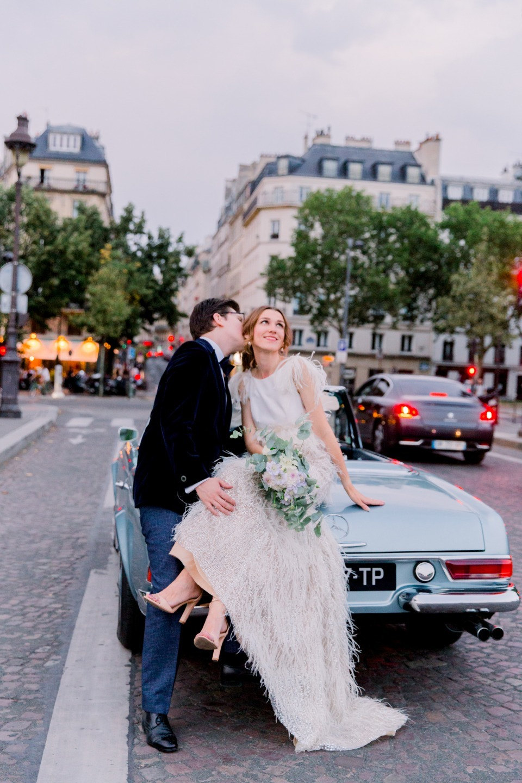 Винтажная свадьба для двоих в Париже