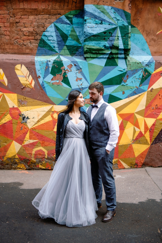 Tender Spring: свадебная фотосессия в серых тонах