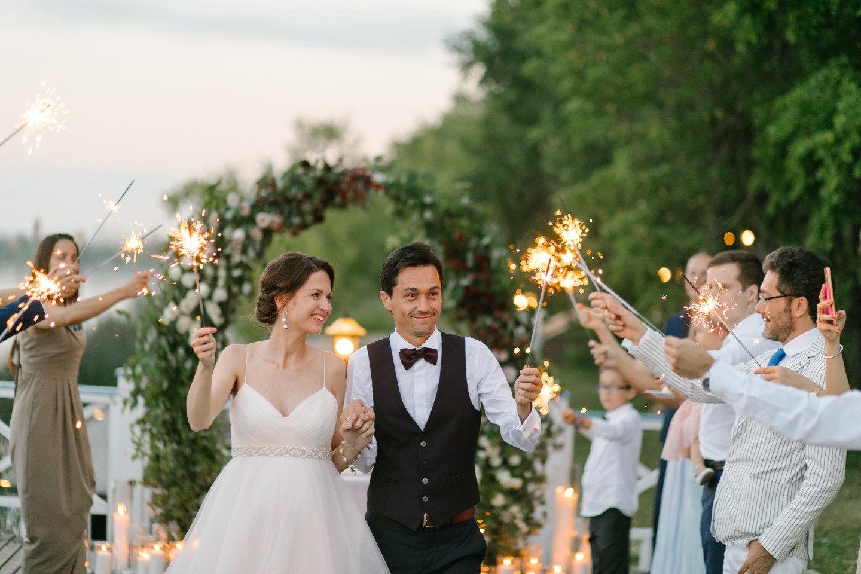 Русско-итальянская свадьба в стилистике английского сада
