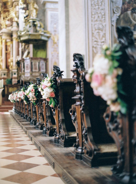 Королевский шик: классическая свадьба во Дворце Лихтенштейнов