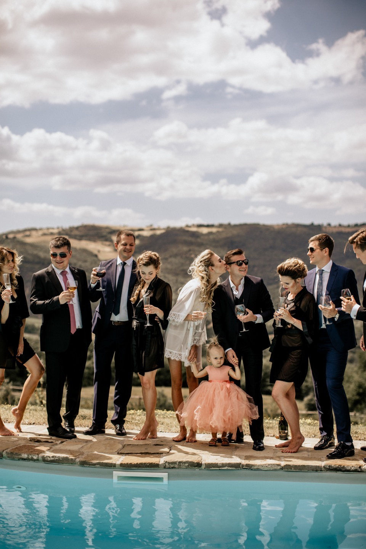 Камерная свадьба в Тоскане под открытым небом