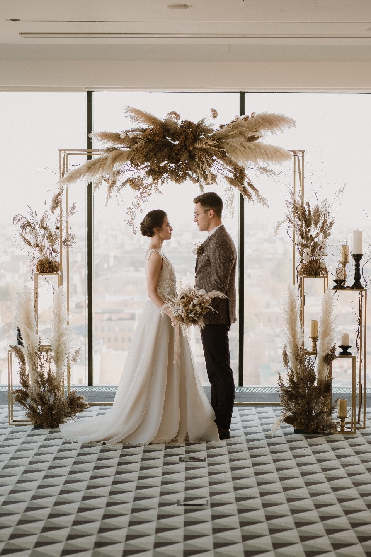 cb28067f744 Сохранить Сохранено Золотая осень: камерная свадьба в пшеничных тонах