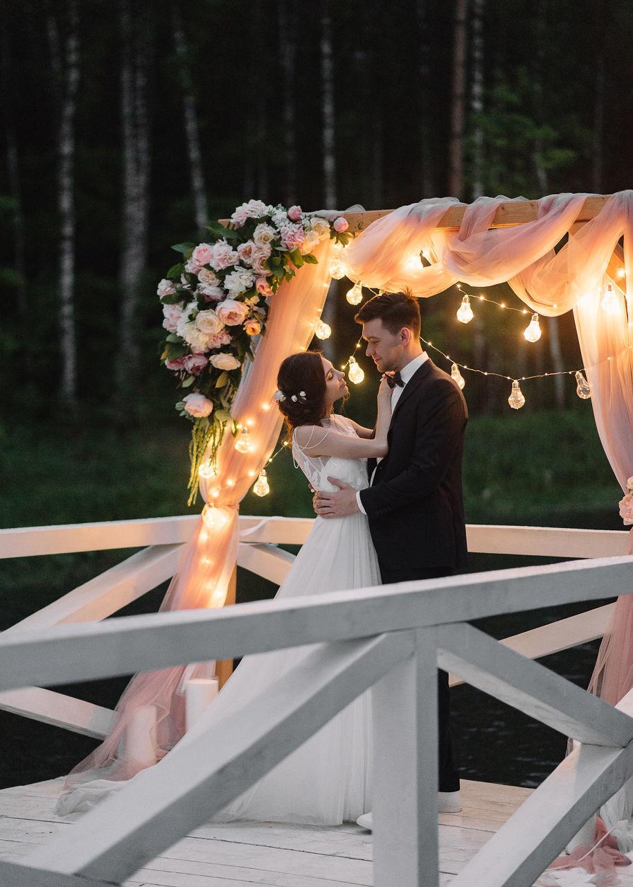 Утонченная романтика: загородная свадьба в розовом цвете
