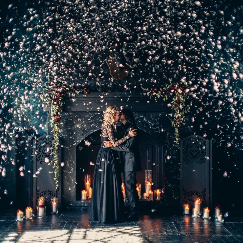 Роскошь черного: готическая свадьба в темных тонах