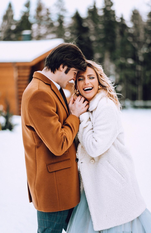 Winter Pool Wedding: стилизованная фотосессия