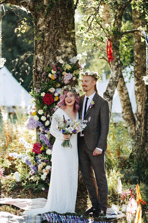 Лесное царство: бохо-свадьба в Карелии