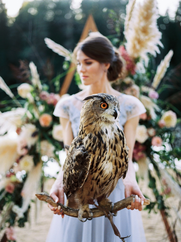 Элегантное бохо: свадьба на природе